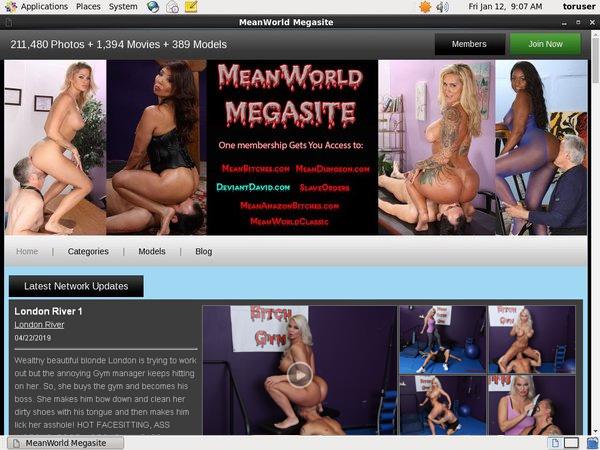 Mean World MegaSite 신용 카드